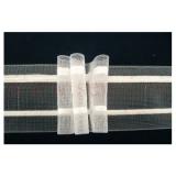Faltenband 3 Falten Transparent 50mm