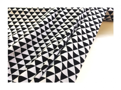 Baumwolle-Jerseystoff  Geometrisch - schwarz/weiß