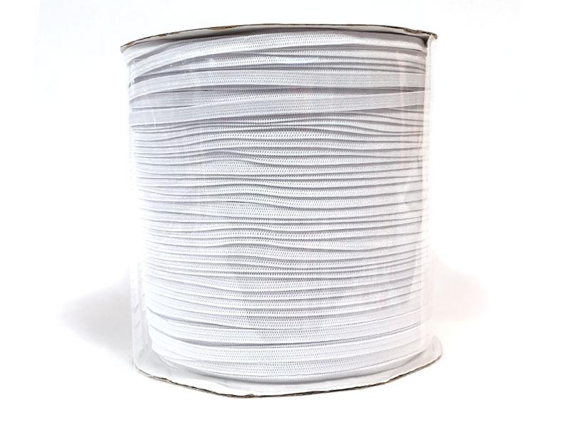 Gummiband - 5 mm, weiß, 200 m-Rolle