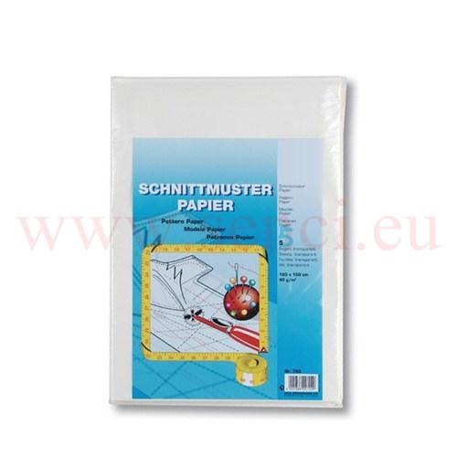 Schnittmusterpapier Transparent Bogen