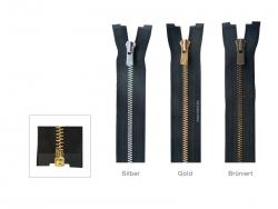 YKK Excella Metall-Reißverschluss, 3 mm teilbar