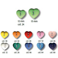 Kinderknopf Herz 10Stk