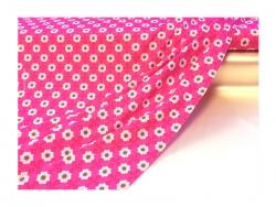 Baumwolle-Jerseystoff Blumen - rosa
