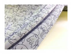 Baumwolle-Jerseystoff  Katzen - grau glitzer