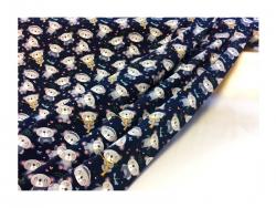Baumwolle-Jerseystoff  Bärchen - blau