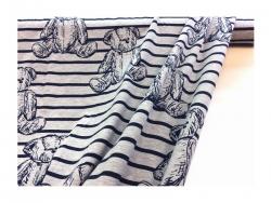 Baumwolle-Jerseystoff  Bähren - schwarz/weiß