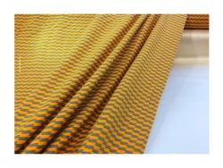 Baumwolle-Jerseystoff Geometrisch - gelb/blau