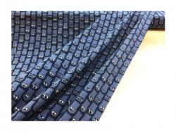 Baumwolle-Jerseystoff Katzen blau