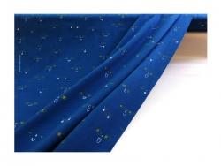 Baumwolle-Jerseystoff Gesichter blau