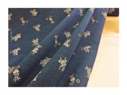 Baumwolle-Jerseystoff Tieren blau