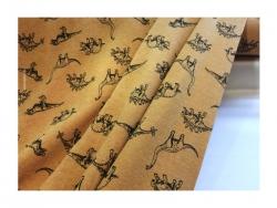 Baumwolle-Jerseystoff Tiere gelb