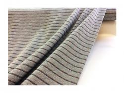 Baumwolle-Jerseystoff Geometrisch grau