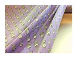 Baumwolle-Jerseystoff Tiere lila