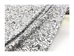 Baumwolle-Jerseystoff Abstrakt  schwarz/weiß