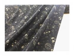 Baumwolle-Jerseystoff Abstrakt- blau