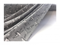 Baumwolle-Jerseystoff Abstrakt - grau