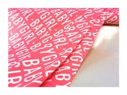Baumwolle-Jerseystoff Geometrisch - rosa