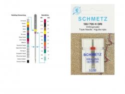 Schmetz Maschinennadeln - Drillings-Universal-Nadel