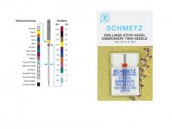 Schmetz Maschinennadeln - Zwillings-Stick-Nadel