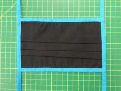 Mundschutz aus Baumwolle (schwarz)