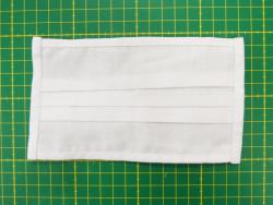Mund-/ Nasenschutz aus Baumwolle mit Gummiband (weiß)