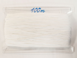 Gummiband - 4 mm weiß