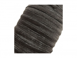 Gummiband - 5 mm, schwarz, Meterware