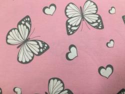 Kinder-Baumwoll-Jersey Glitzer Schmetterlinge