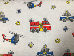 Kinder-French-Terry Feuerwehr