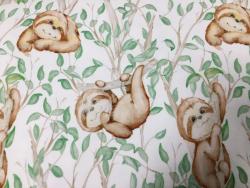 Kinder-Baumwoll-Jersey Faultier