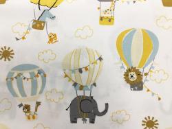 Baumwoll-Druck Heißluftballon