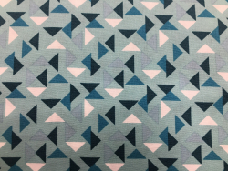 Baumwoll-Druck Geometrisch