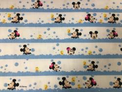 Baumwoll-Druck Mickey & Minnie Mouse