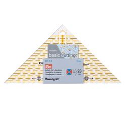 Flottes Dreieck, für ¼ Quadrat-Dreiecke, bis 20cm