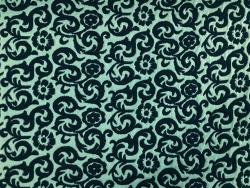 Jersey floral-gemustert, mintgrün