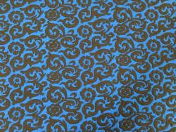 Jersey floral-gemustert, blau