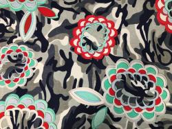 Bambus-Jersey, Camouflage-Blumen