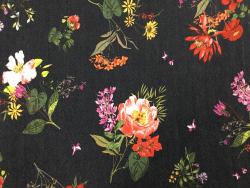 Jeans-Stoff mit Blumen