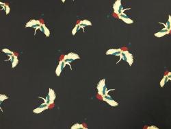 Polyester-Jersey mit Kranichen