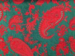 Jacquard rot-grüne Ornamente