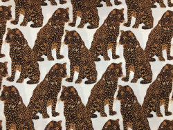 Viskose-Druck, Leoparden