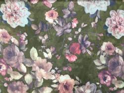 Chiffon-Druck, rosa Blüten