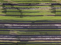 Jaquard Lurex, farbig-silbernes Streifen-Muster
