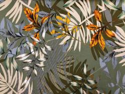 Neue Kollektion 21 Frühsommer Viskose-Jersey mit großen Blättern