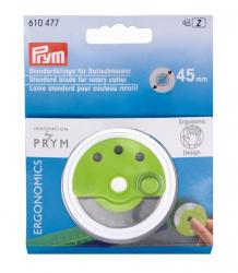 PRYM Ersatzklinge für Rollschneider, Standard ergonomics, Ø 45mm