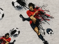 Baumwoll-Jersey Stoff / Fußball FVJ-1970