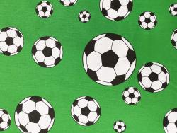 Baumwoll-Druck / Fußball (grün)
