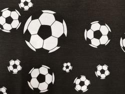 Baumwoll-Druck / Fußball (Schwarz)