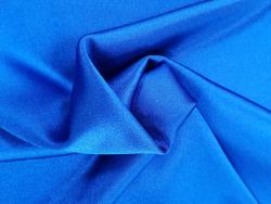 Krepp Satin Stoff blaue Farbtöne