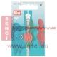 Prym Fashion-Zipper für Kinder Rot/Altsilber